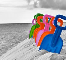 Row of Shovels by rosaliemcm