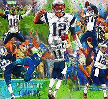 New England Patriots Win Super Bowl XLIX  by John Farr