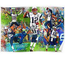 New England Patriots Win Super Bowl XLIX  Poster