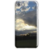 sunset over the house iPhone Case/Skin