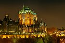Night view of Le Chateau Frontenac, Quebec City by Stephen Beattie