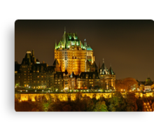 Night view of Le Chateau Frontenac, Quebec City Canvas Print