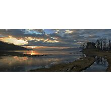 Sunset at Castle Lachlan Photographic Print