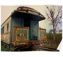 Abandoned Rail Car Poster
