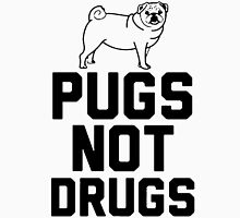 Pugs Not Drugs [Black] Unisex T-Shirt