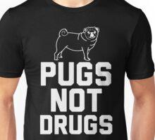Pugs Not Drugs [White] Unisex T-Shirt