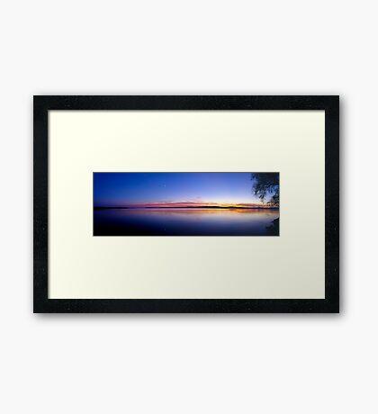 Sunset, Lake Champlain - Panorama Framed Print