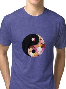Flower Yin Yang Tri-blend T-Shirt