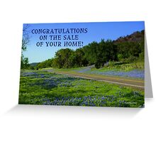Bluebonnet Road, Texas Greeting Card