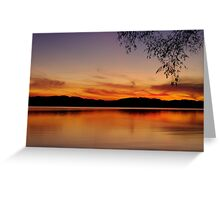 Sunset, Lake Champlain Greeting Card