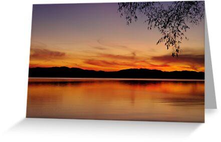 Sunset, Lake Champlain by Stephen Beattie
