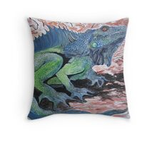 Dragon- the Lizardy Kind Throw Pillow