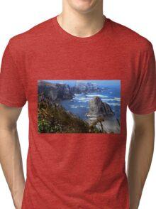The Bluff Above a Blue Ocean Tri-blend T-Shirt