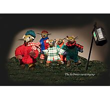 Wind in the Willows - The fieldmice carol singing Photographic Print