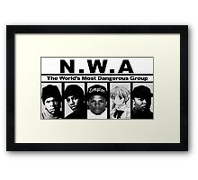 Shoujo's With Attitude N.W.A. Framed Print
