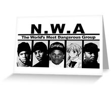 Shoujo's With Attitude N.W.A. Greeting Card