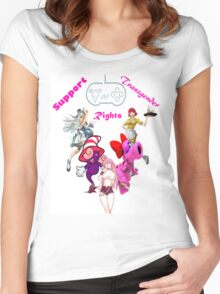 Trangender videogame rights, the new frontier Women's Fitted Scoop T-Shirt
