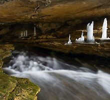 Ice Formations in Cavern by Kenneth Keifer