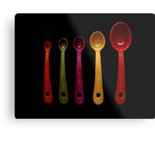 Five Measuring Spoons Metal Print