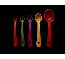 Five Measuring Spoons Photographic Print