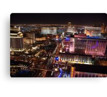 The Strip North - Las Vegas NV Canvas Print