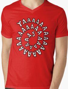 YAAASSSSSSSSS [Black] Mens V-Neck T-Shirt