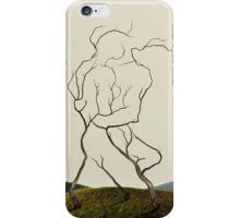 Embrace in the Trees - Passionate Lovers Embrace iPhone Case/Skin