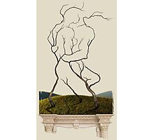 Embrace in the Trees - Passionate Lovers Embrace Photographic Print