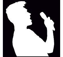 Singing Dan (Negative) Photographic Print