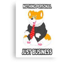 Business Corgi Canvas Print