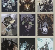 Hearthstone Characters Posterized by CuriousMC
