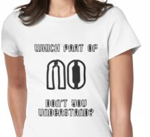 Which part of NO don't you understand? Womens Fitted T-Shirt