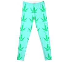 green leaf leggings Leggings