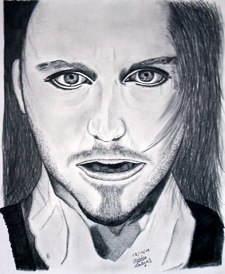 Tim Minchin Pencil Drawing by Melissa Contreras