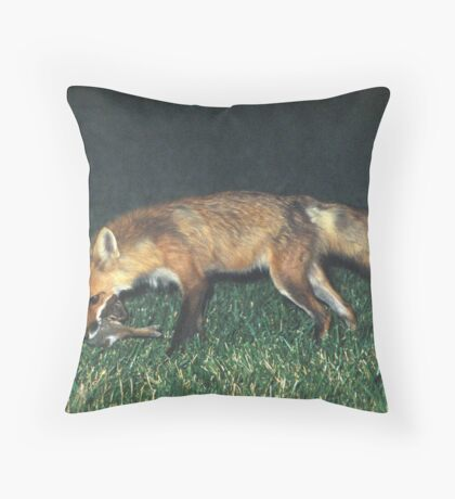 Fox with Rabbit Throw Pillow