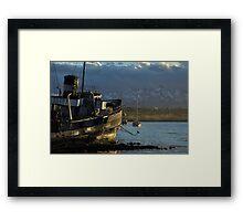 Golden Boat of Ushuaia Framed Print