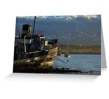 Golden Boat of Ushuaia Greeting Card