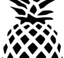 Reddit /R/Trees Pineapple black & white Sticker