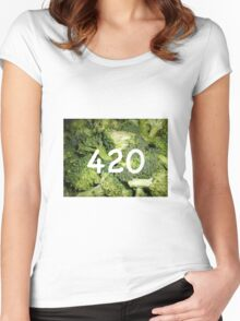 420 Broccoli Women's Fitted Scoop T-Shirt