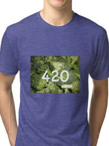 420 Broccoli Tri-blend T-Shirt