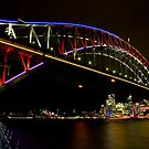 Vivid Sydney Harbour Bridge - Vivid Festival by Bryan Freeman