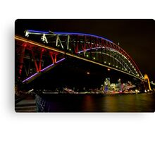 Vivid Sydney Harbour Bridge - Vivid Festival Canvas Print