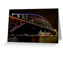 Vivid Sydney Harbour Bridge - Vivid Festival Greeting Card