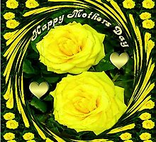 இڿڰۣ-ڰۣ—SAYING HAPPY MOTHER'S DAY WITH YELLOW ROSES - DECORATIVE PILLOW AND OR TOTE BAGஇڿڰۣ-ڰۣ— by ✿✿ Bonita ✿✿ ђєℓℓσ