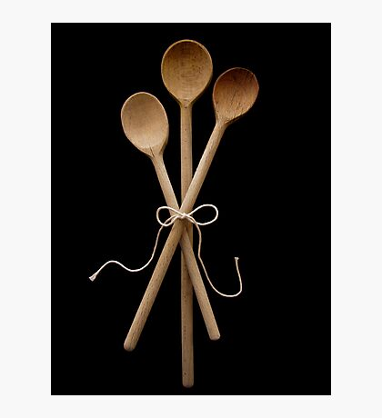 Three Wooden Spoons Photographic Print