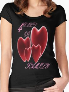 4 HEARTS Women's Fitted Scoop T-Shirt