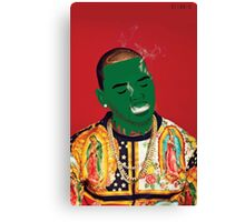 Chris Brown Slime face smoking Canvas Print