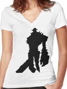 Shadow of the Colossus Gaius - Black Women's Fitted V-Neck T-Shirt