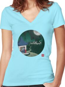 Four Of Seven Women's Fitted V-Neck T-Shirt