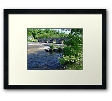5-Span Stone Bridge Framed Print